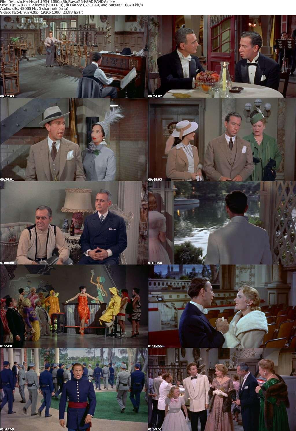 Deep in My Heart 1954 1080p BluRay x264-SADPANDA