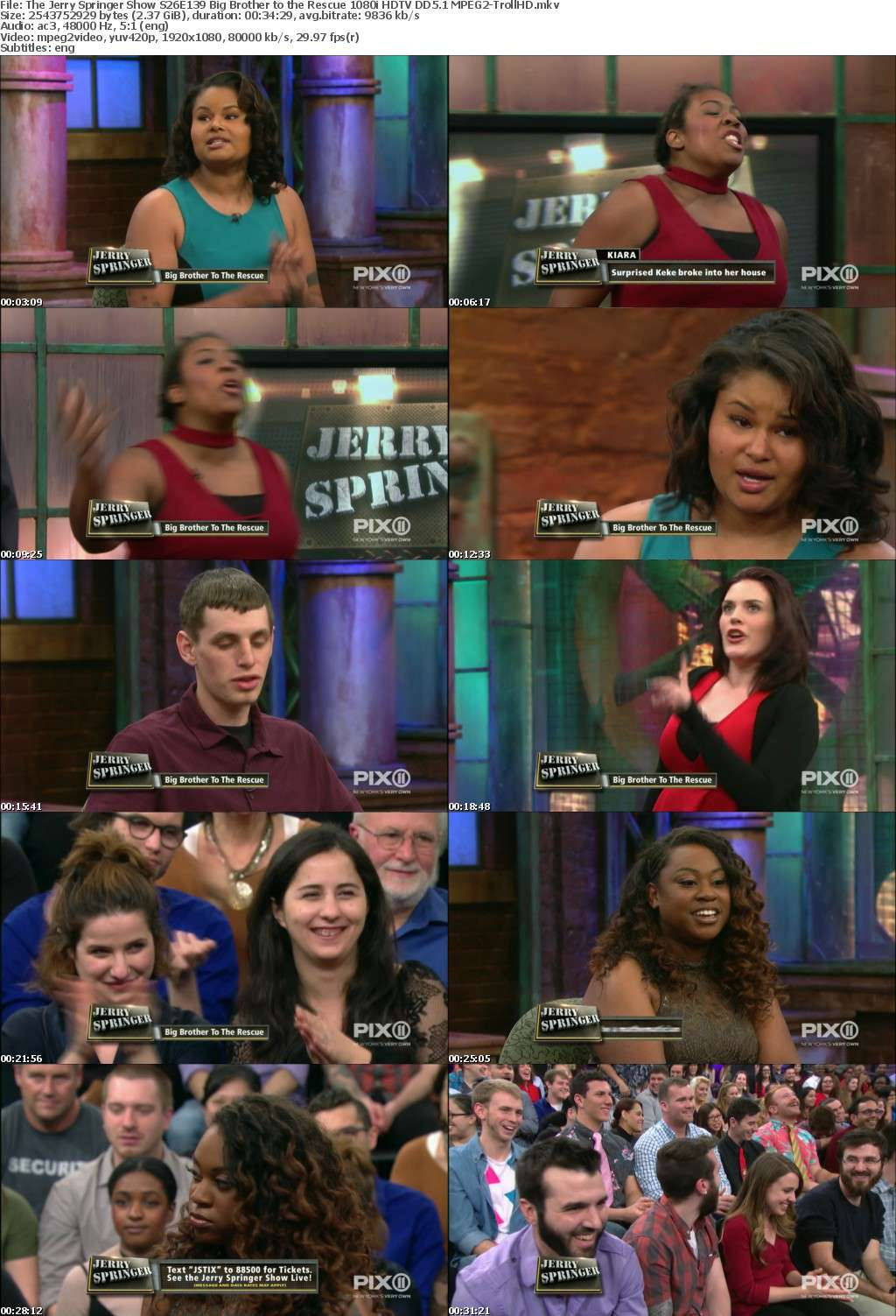 The Jerry Springer Show S26E139 Big Brother to the Rescue 1080i HDTV DD5 1 MPEG2-TrollHD - MPEG2