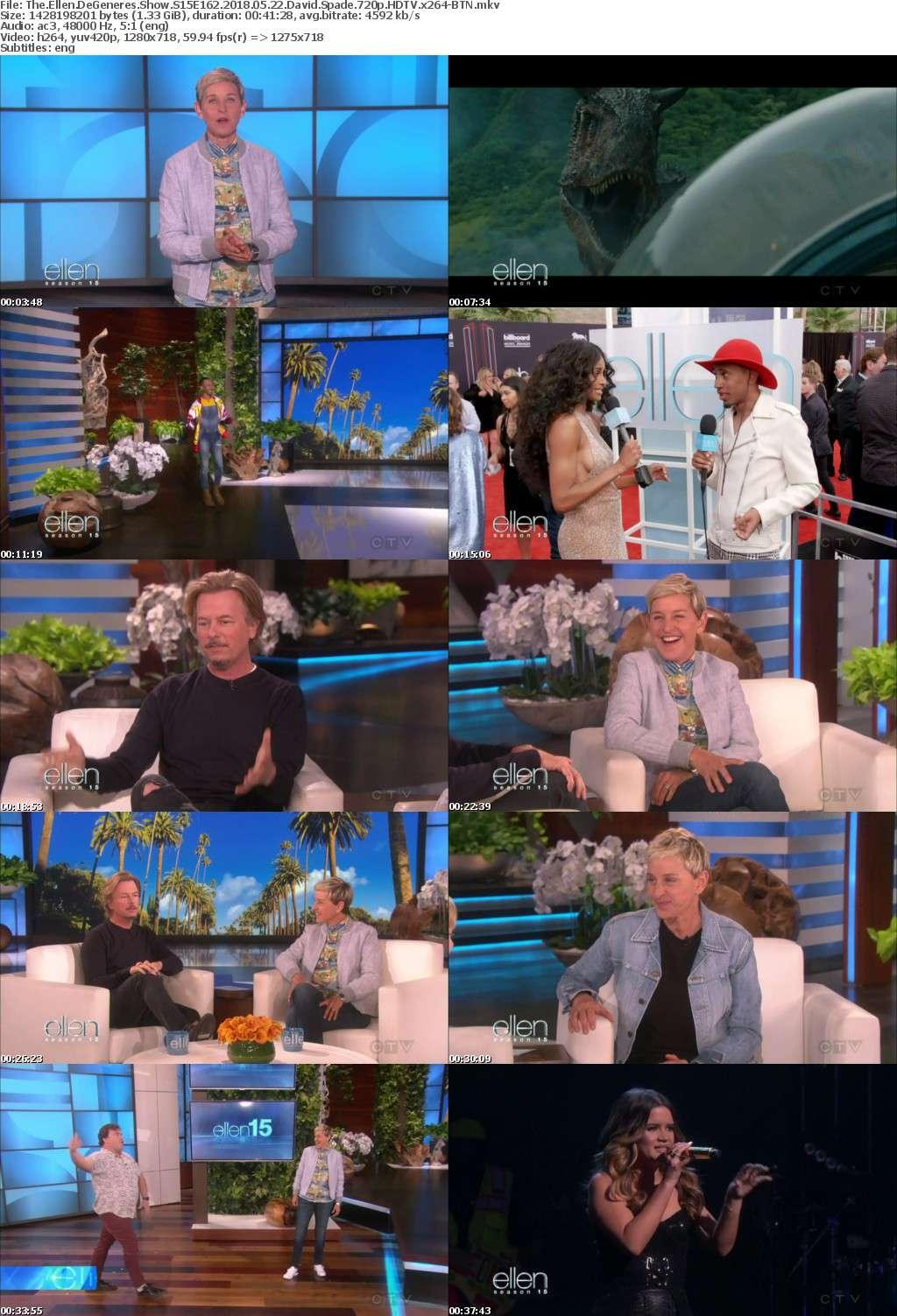 The Ellen DeGeneres Show S15E162 2018 05 22 David Spade 720p HDTV x264-BTN
