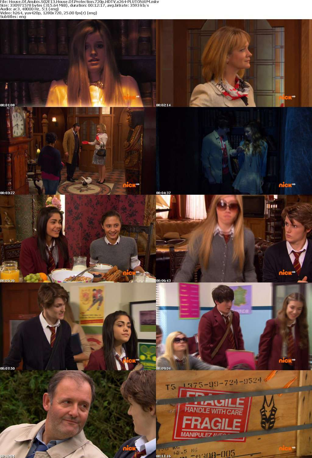 House Of Anubis S02E13 House Of Protection 720p HDTV x264-PLUTONiUM
