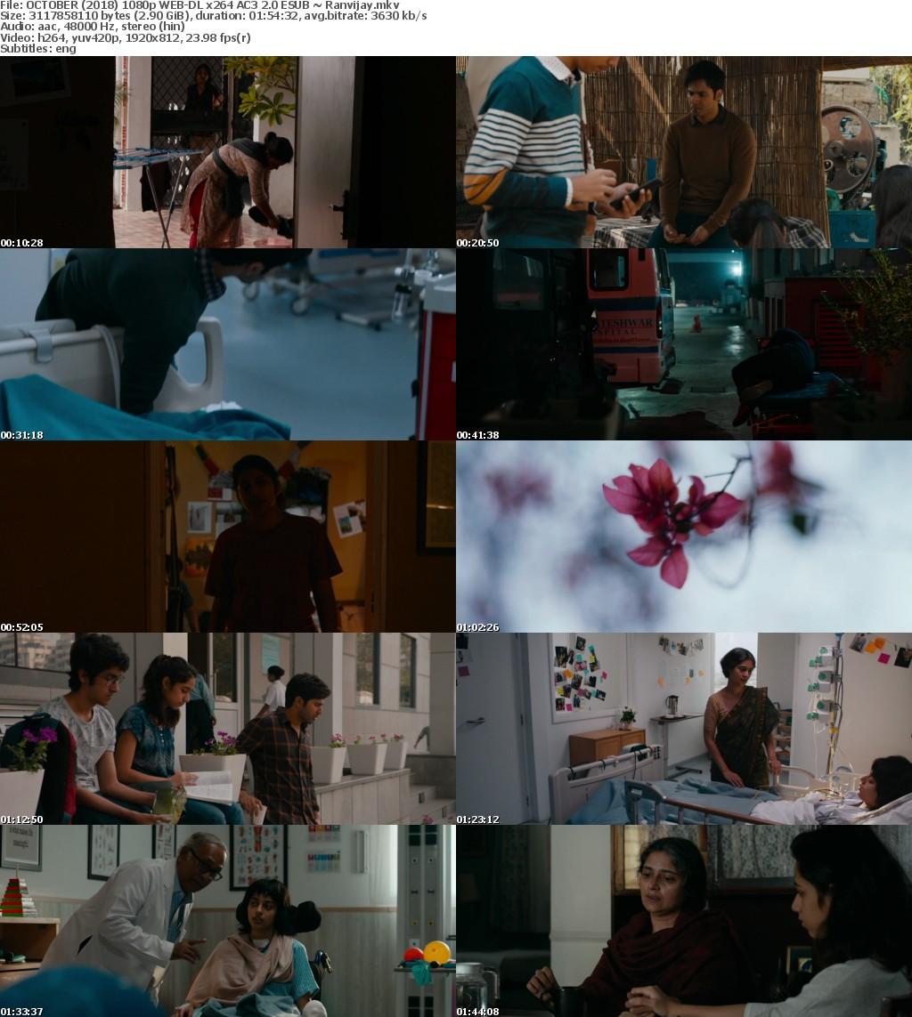 October (2018) Hindi 1080p WEB-DL x264 AC3 2.0 ESub-Ranvijay