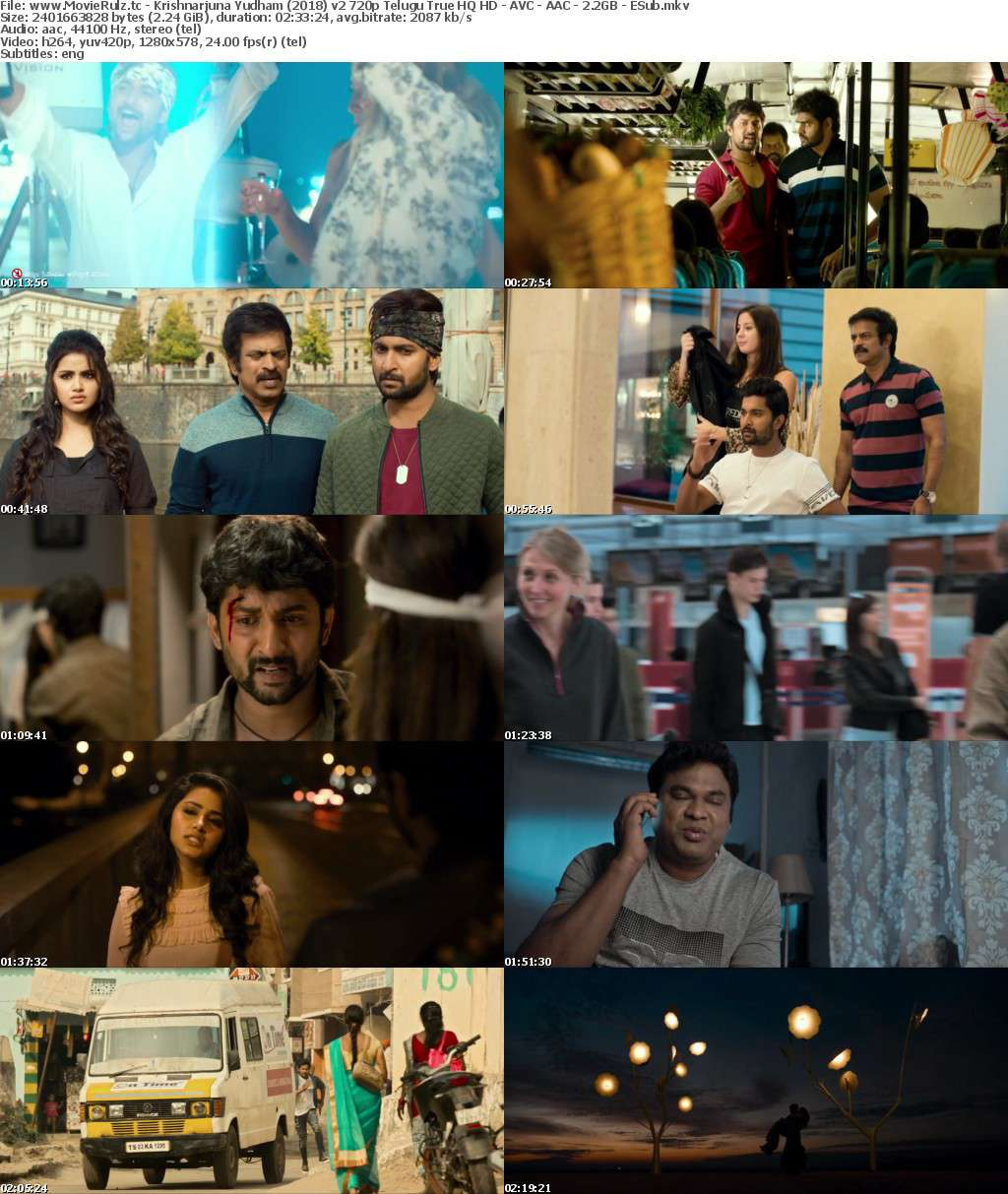 Krishnarjuna Yudham (2018) v2 720p Telugu True HQ HD - AVC - AAC - 2 2GB - ESub