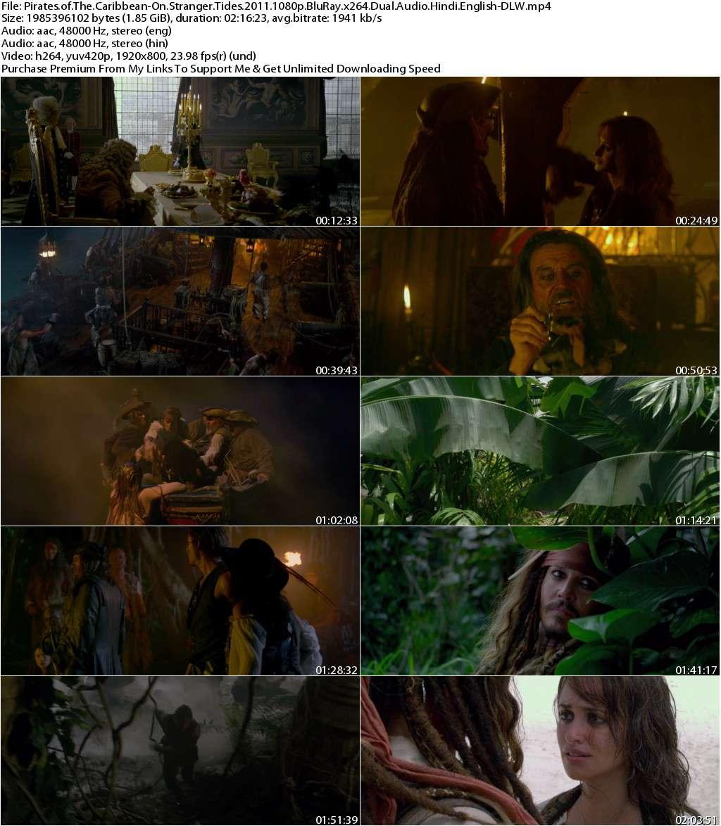 Pirates of The Caribbean-On Stranger Tides (2011) 1080p BluRay x264 Dual Audio [Hindi+English]-DLW