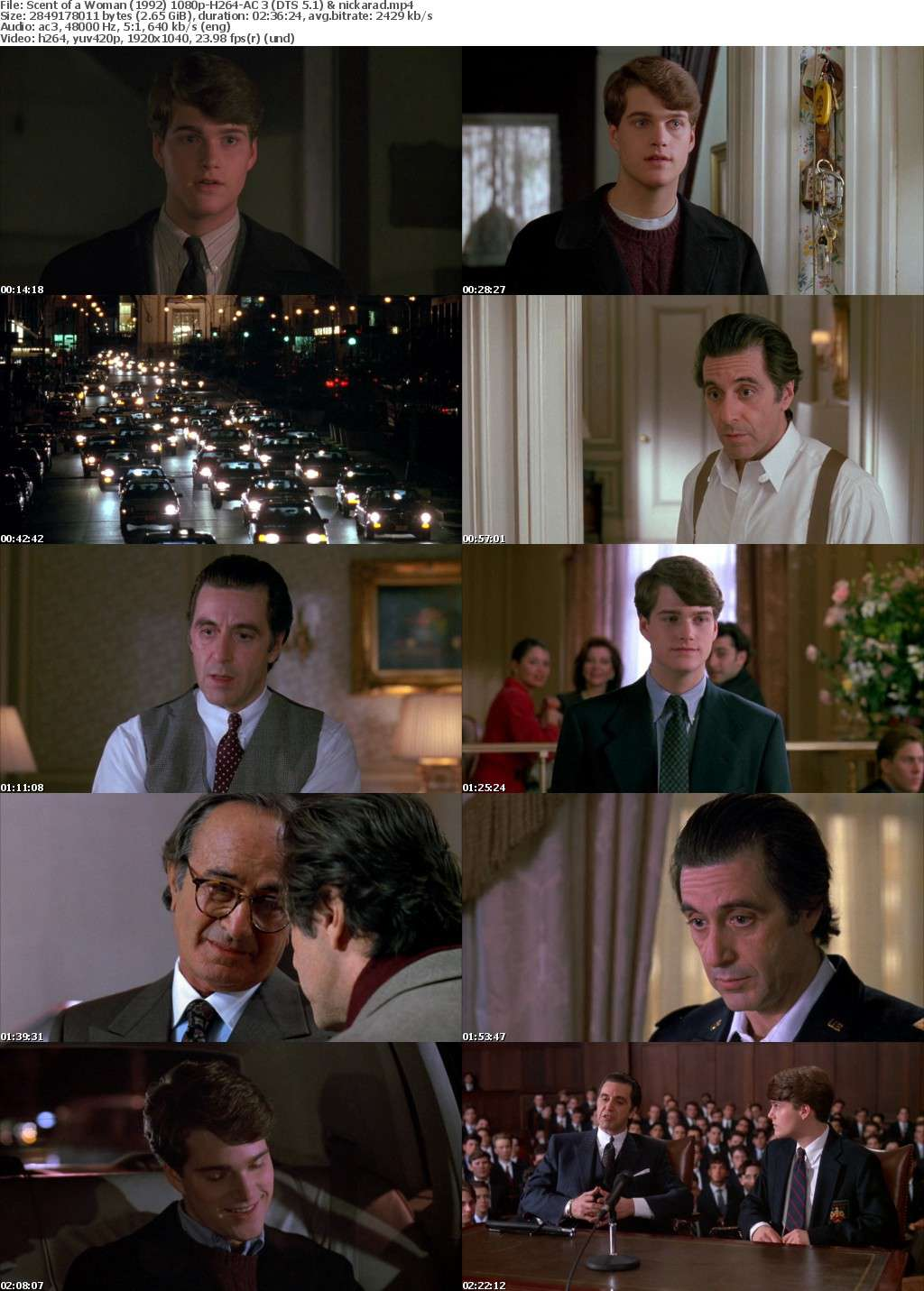 Scent of a Woman (1992) 1080p BluRay H264 AC3 Remastered-nickarad
