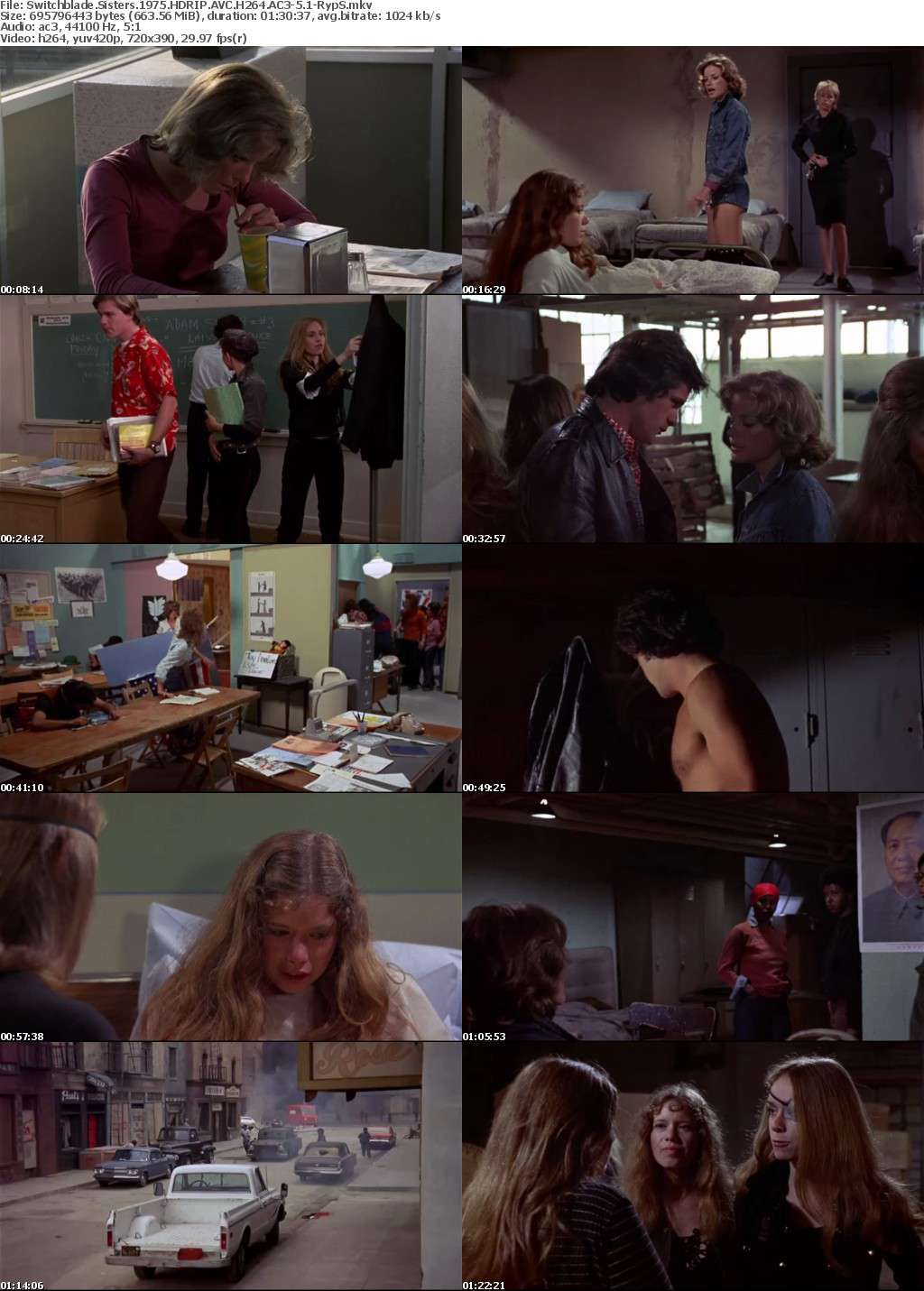 Switchblade Sisters 1975 HDRIP AVC H264 AC3-5 1-RypS