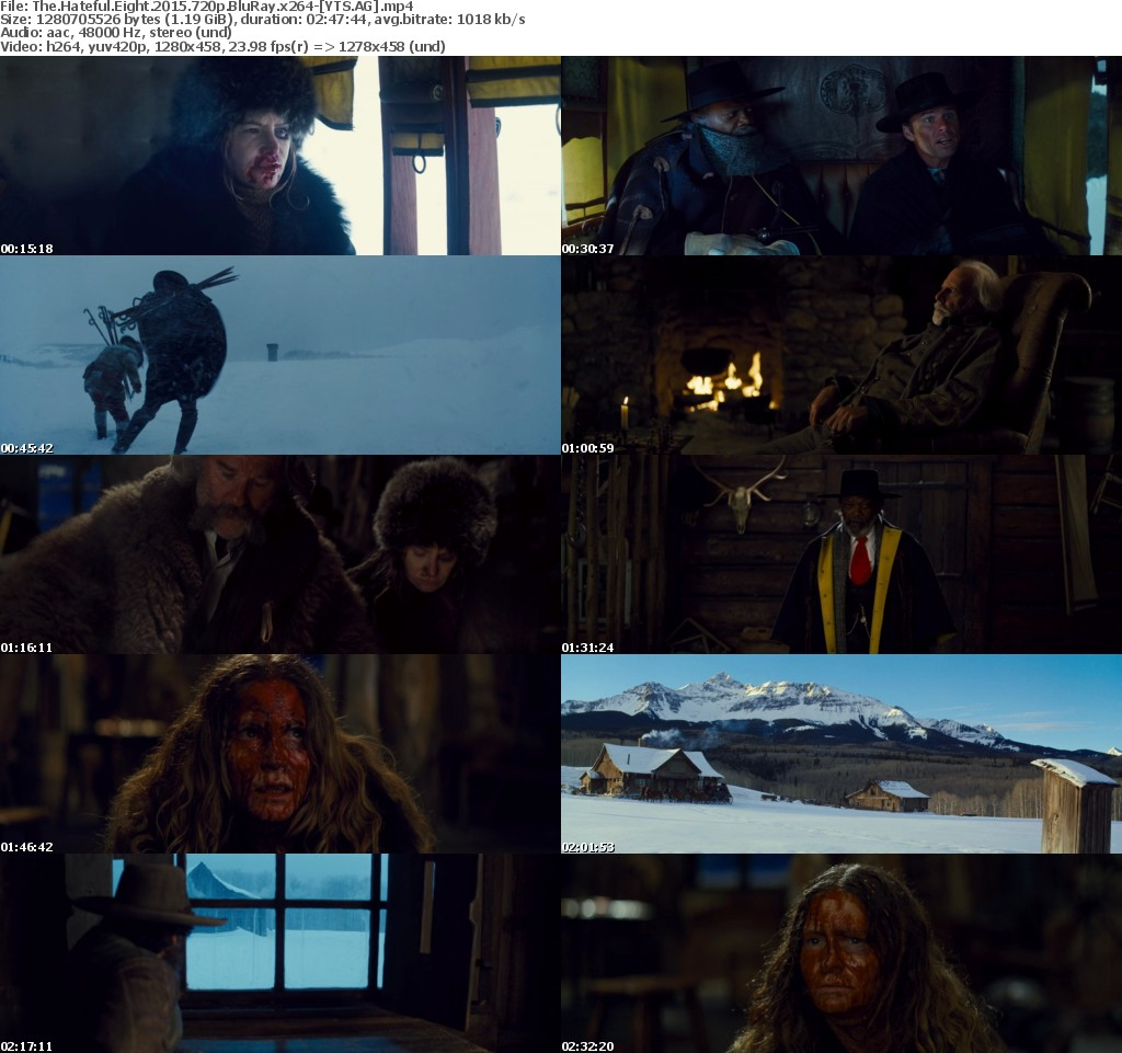 The Hateful Eight (2015) [BluRay] [720p] YIFY