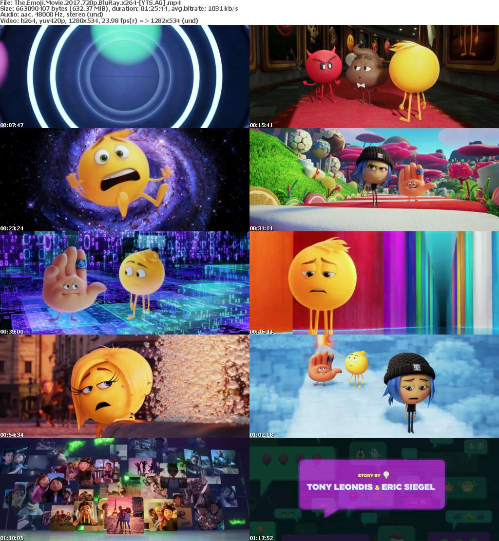 The Emoji Movie (2017) [BluRay] [720p] YIFY