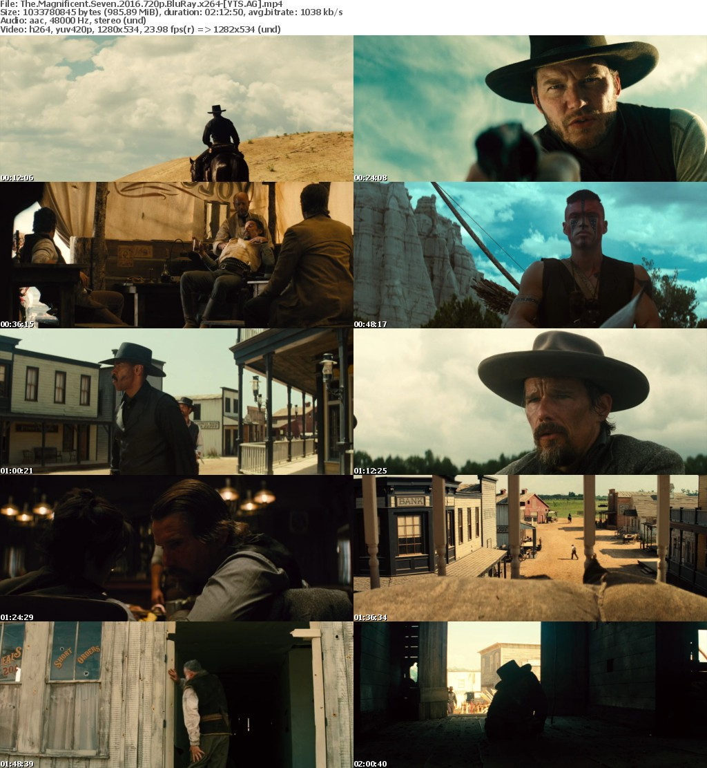 The Magnificent Seven (2016) [BluRay] [720p] YIFY