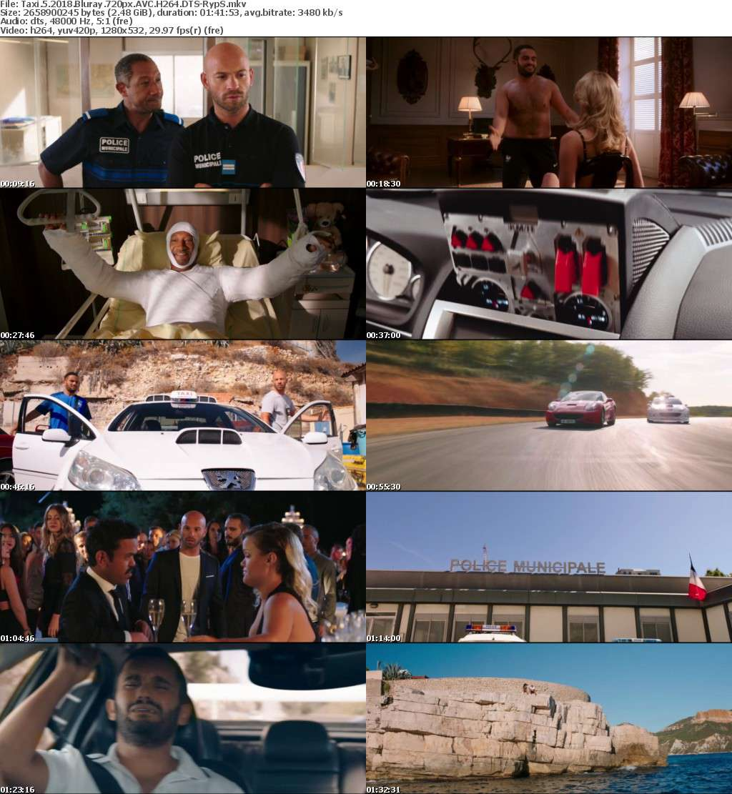 Taxi 5 2018 Bluray 720px AVC H264 DTS-RypS