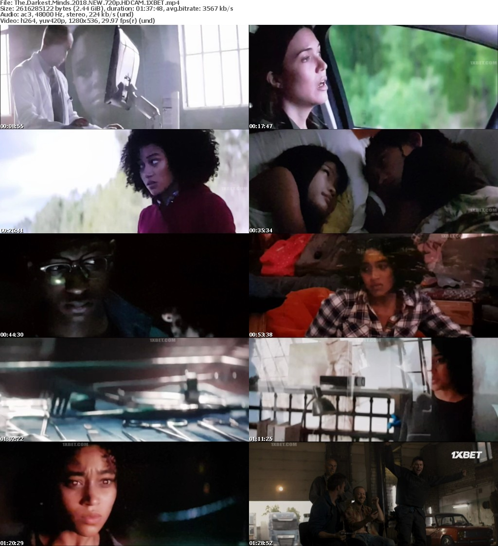 The Darkest Minds (2018) NEW 720p HDCAM-1XBET
