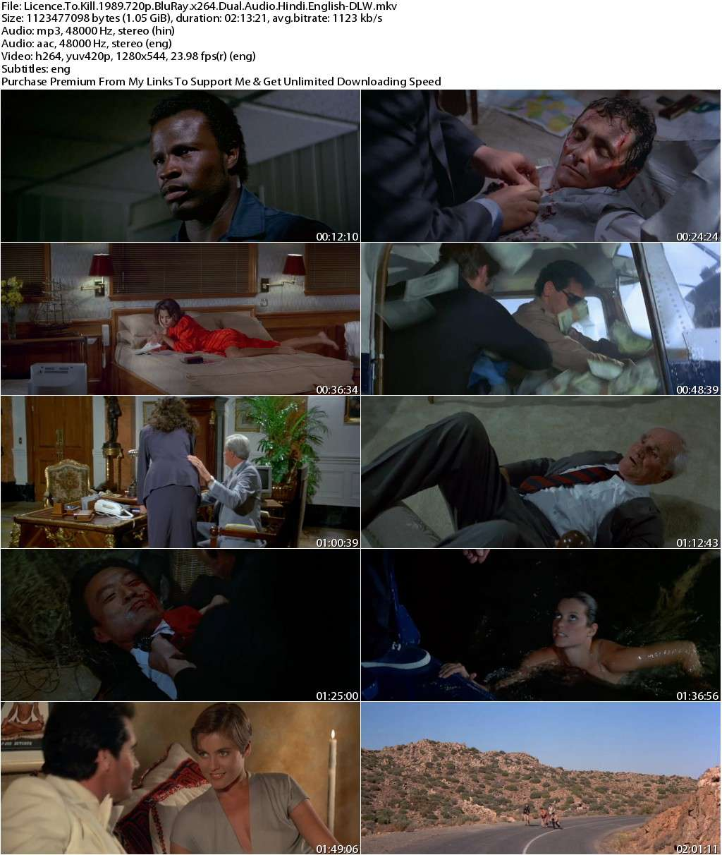 Licence To Kill (1989) 720p BluRay x264 Dual Audio [Hindi-English]-DLW