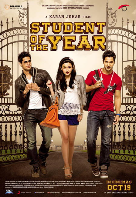 Student of the Year 2012 BRRip Hindi 720p X264 AAC 5 1 ESub - mkvCinemas