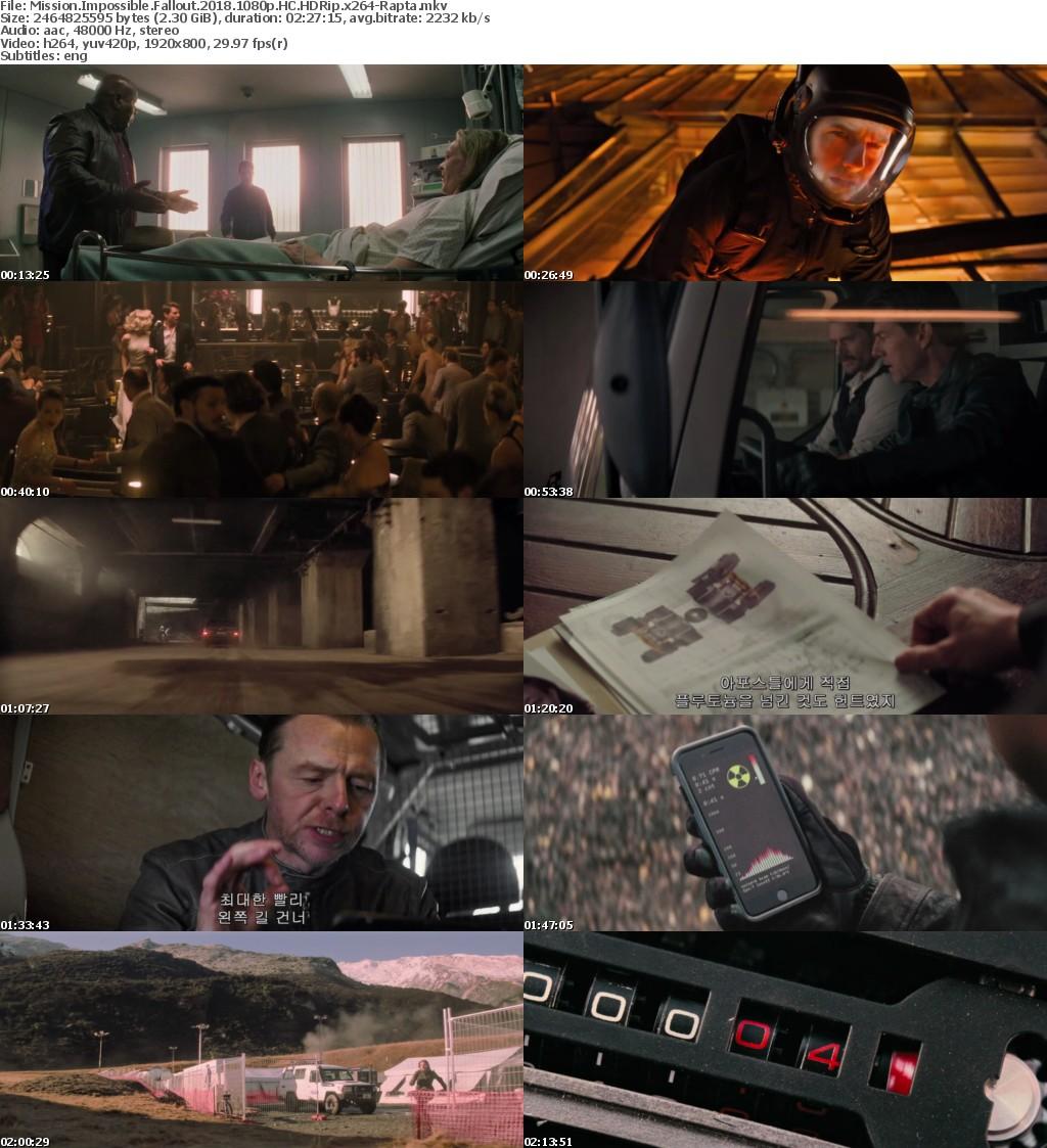 Mission Impossible - Fallout (2018) 1080p HC HDRip x264-Rapta