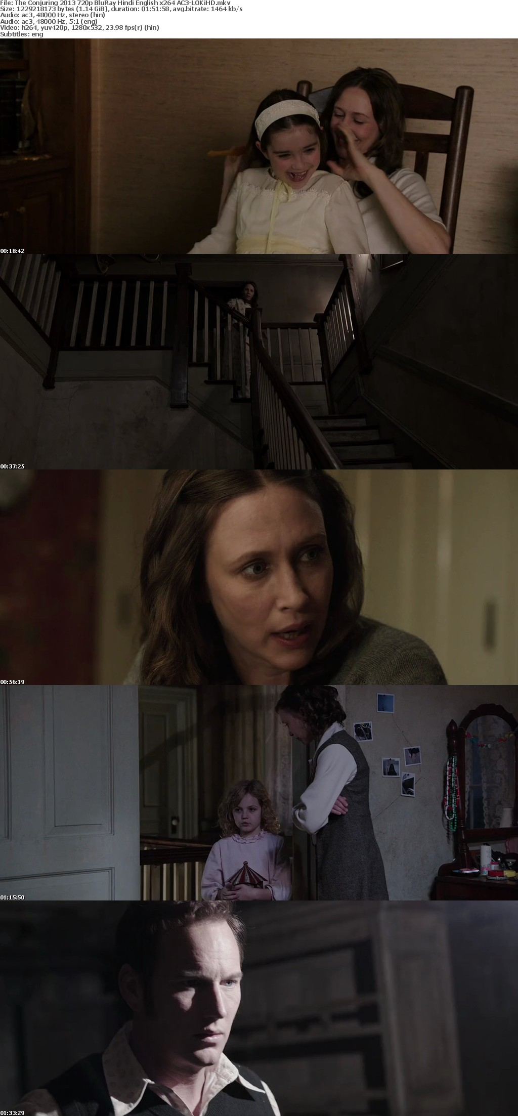 The Conjuring 2013 720p BluRay Hindi English x264 AC3-LOKiHD