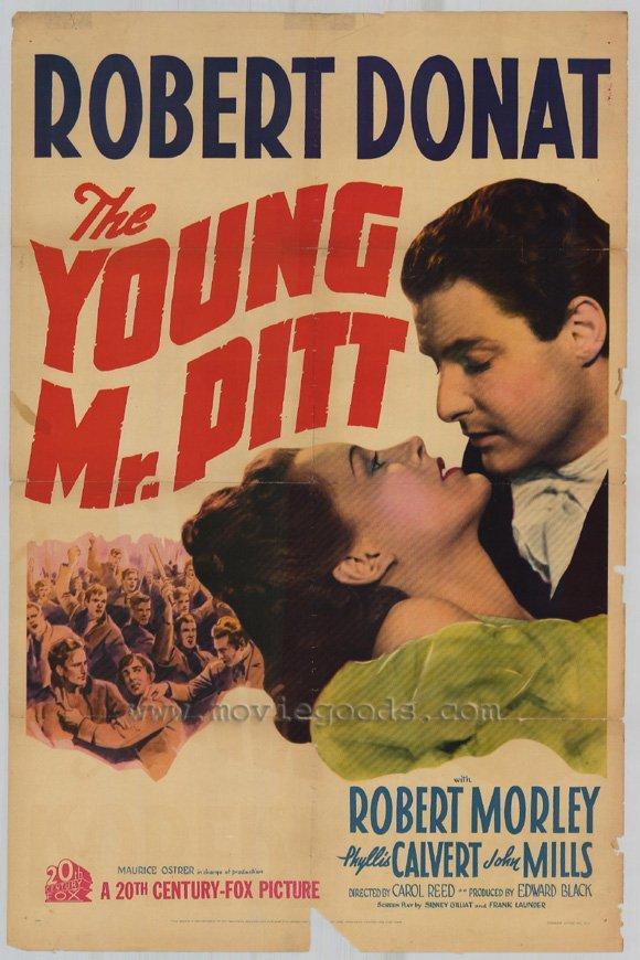 The Young Mr Pitt 1942 - UK Robert Donat drama