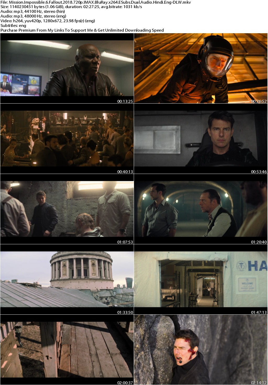 Mission Impossible Fallout (2018) 720p IMAX BluRay x264 ESubs Dual Audio Hindi Eng-DLW