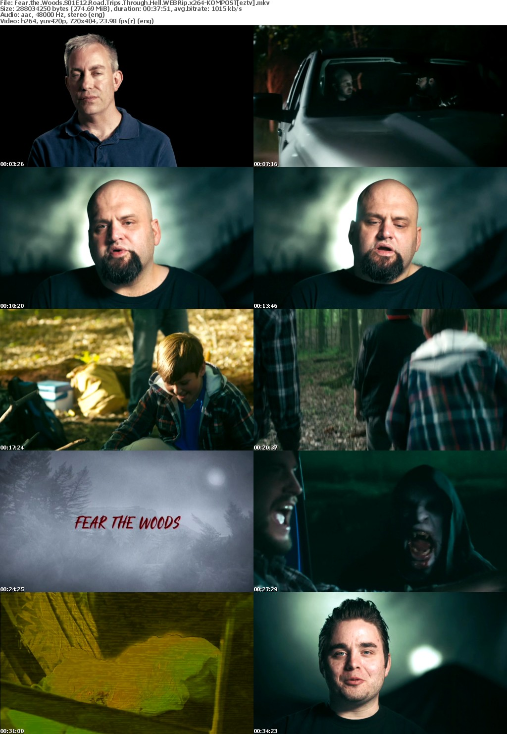 Fear the woods s01e12 road trips through hell webrip x264  kompost. Скриншот №1