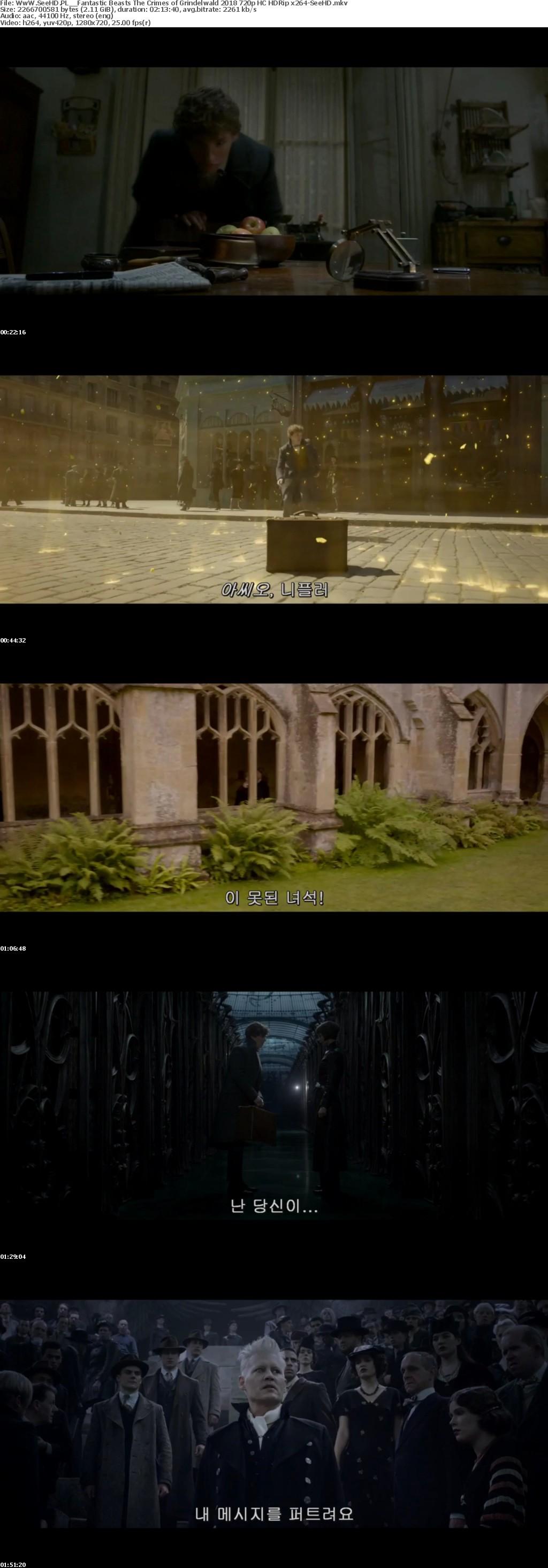 Fantastic Beasts The Crimes of Grindelwald 2018 720p HC HDRip x264-SeeHD
