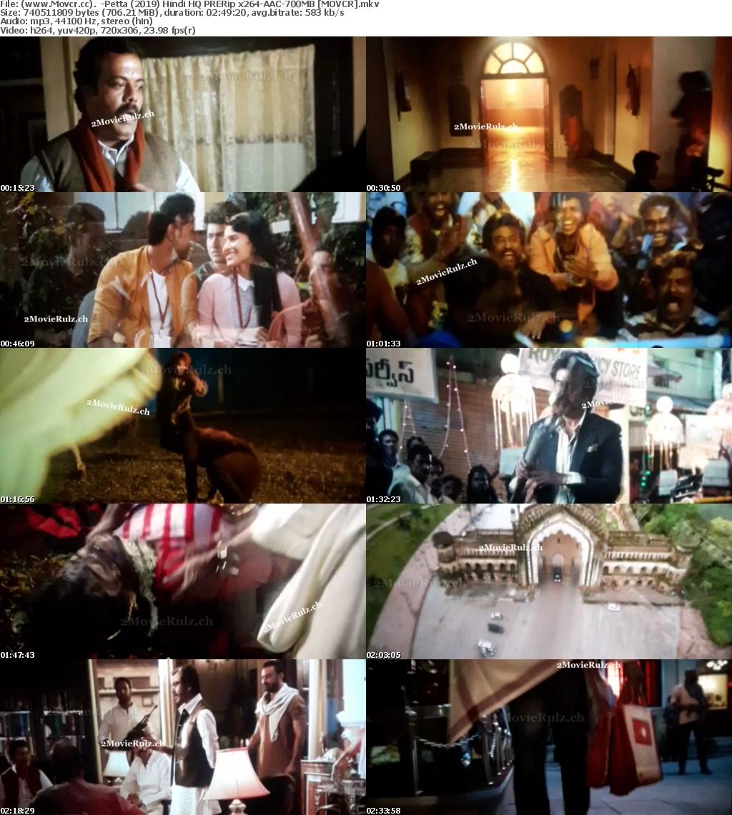 Petta (2019) Hindi HQ PRERip x264-AAC-700MB MOVCR