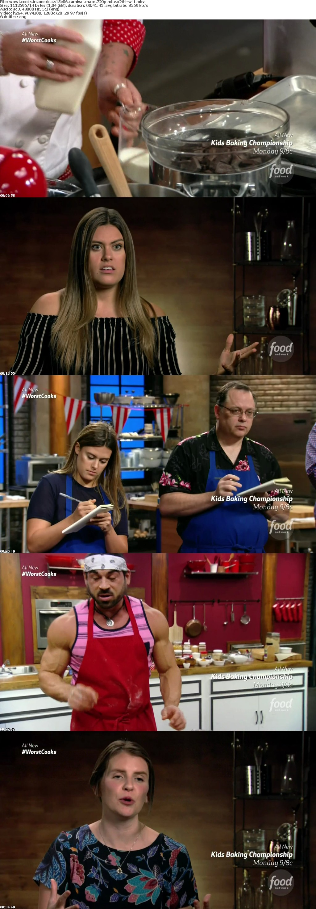 Worst Cooks In America S15E06 Carnival Chaos 720p HDTV x264-W4F