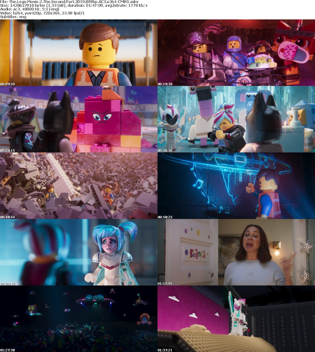 The Lego Movie 2 The Second Part (2019) BRRip AC3 x264-CMRG
