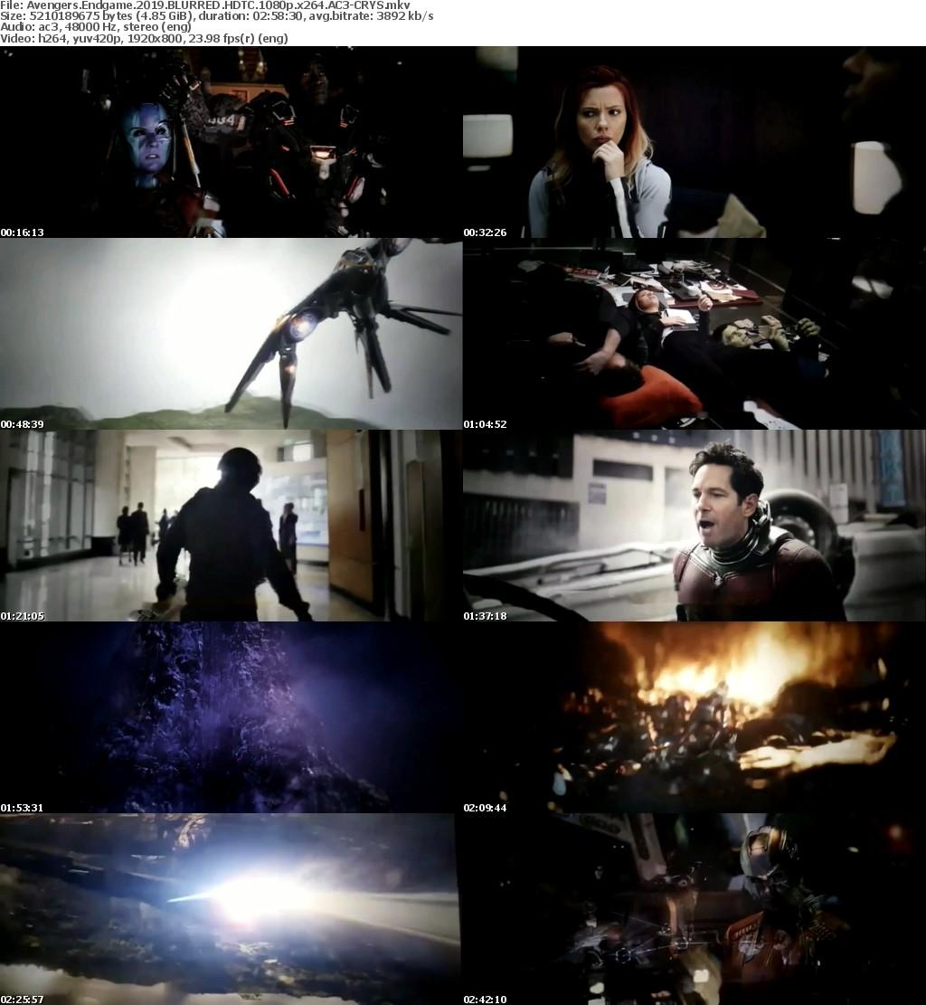 Avengers Endgame (2019) BLURRED HDTC 1080p x264 AC3-CRYS