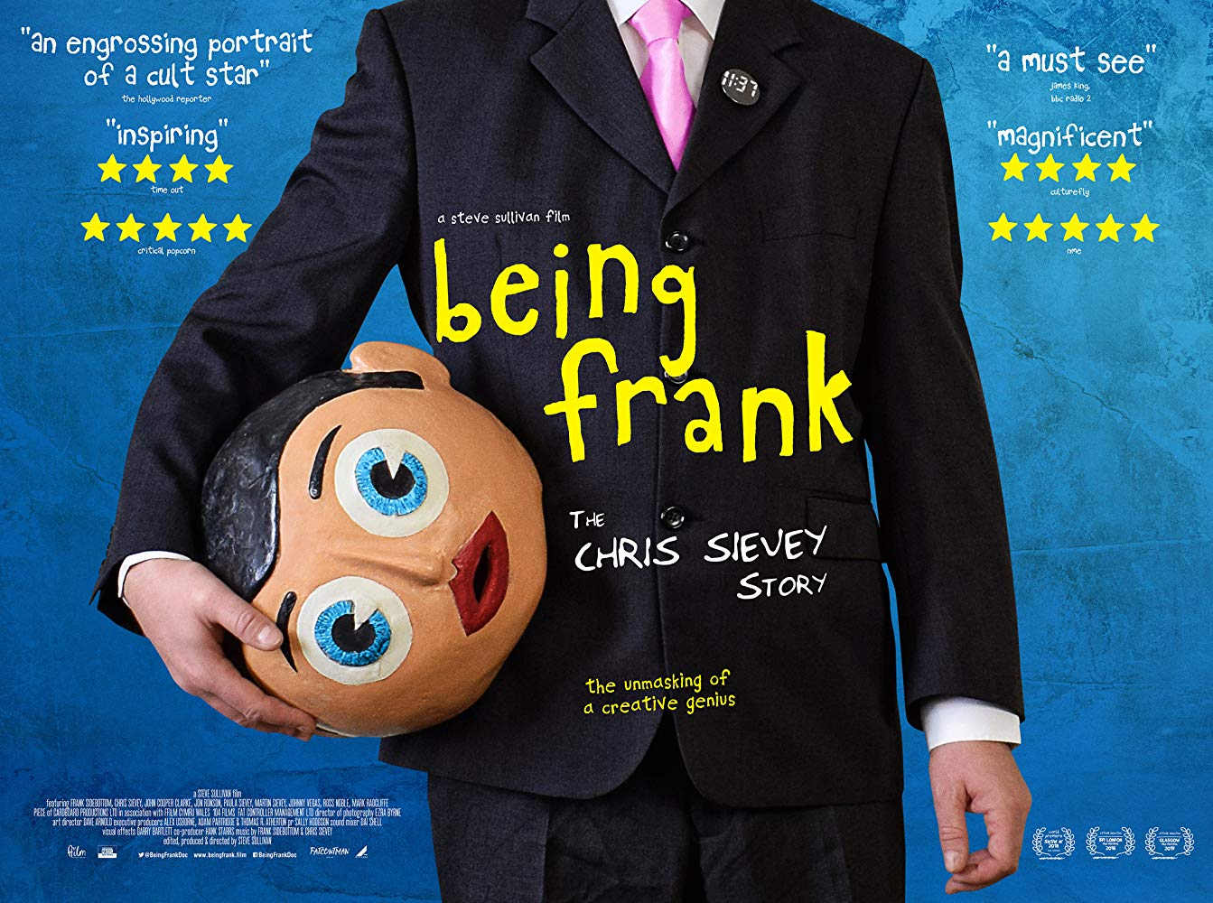 Being Frank The Chris Sievey Story 2018 LiMiTED 1080p BluRay x264-CADAVER