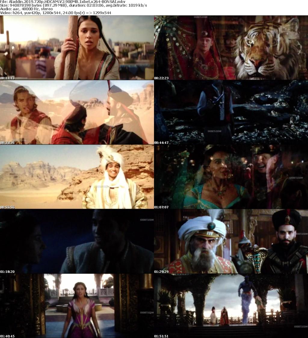 Aladdin 2019 720p HDCAM V2 900MB 1xbet x264-BONSAI