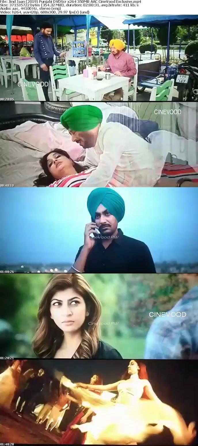 Jind Jaan 2019 Punjabi DVDScr x264 350MB AAC CineVood Exclusive