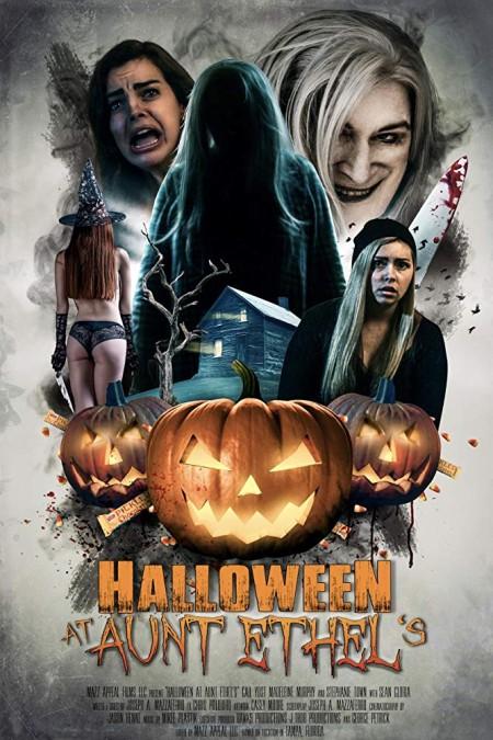 Halloween At Aunt Ethels (2018) 720p WEBRip 800MB x264 GalaxyRG