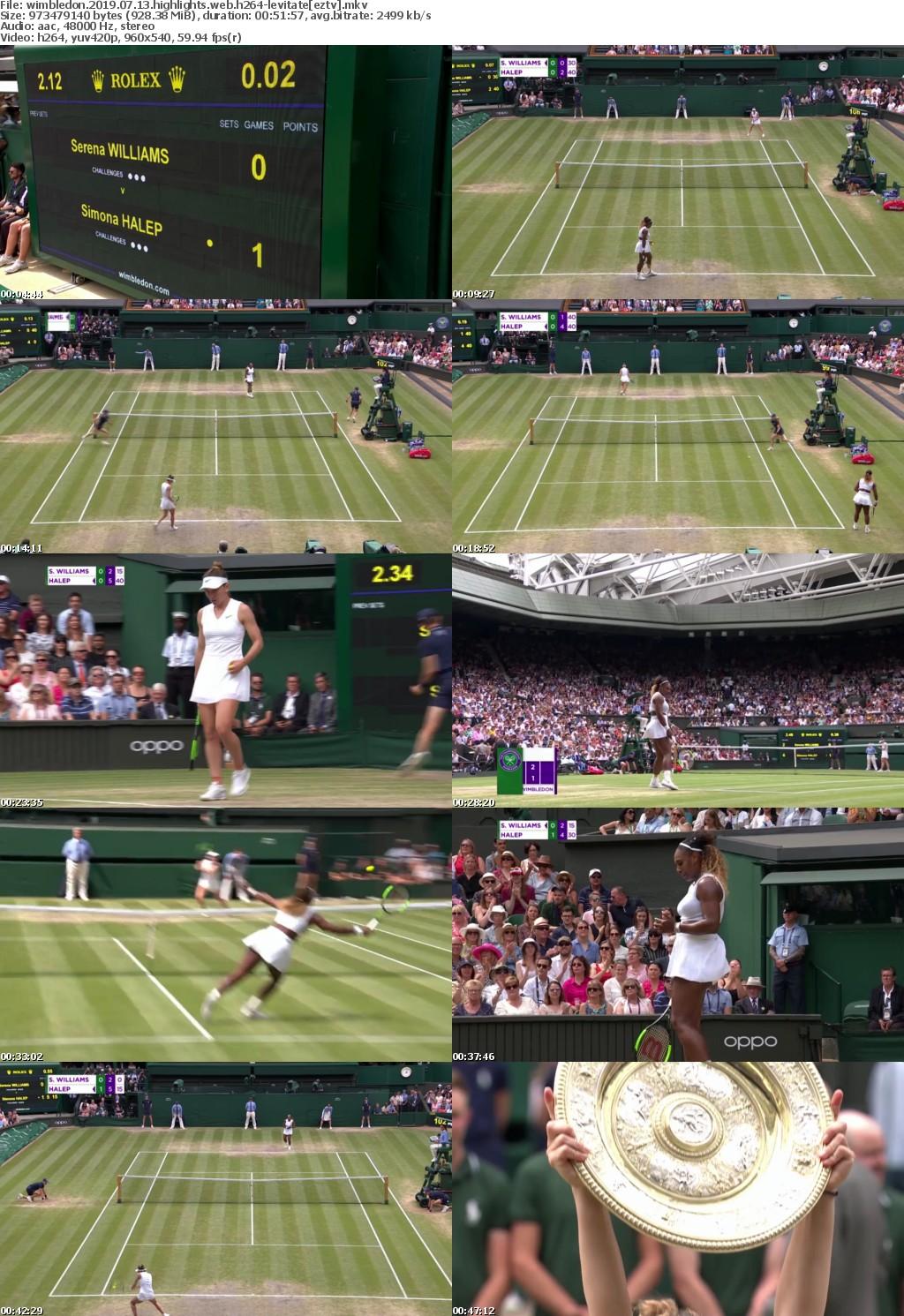 Wimbledon 2019 07 13 Highlights WEB H264 LEViTATE