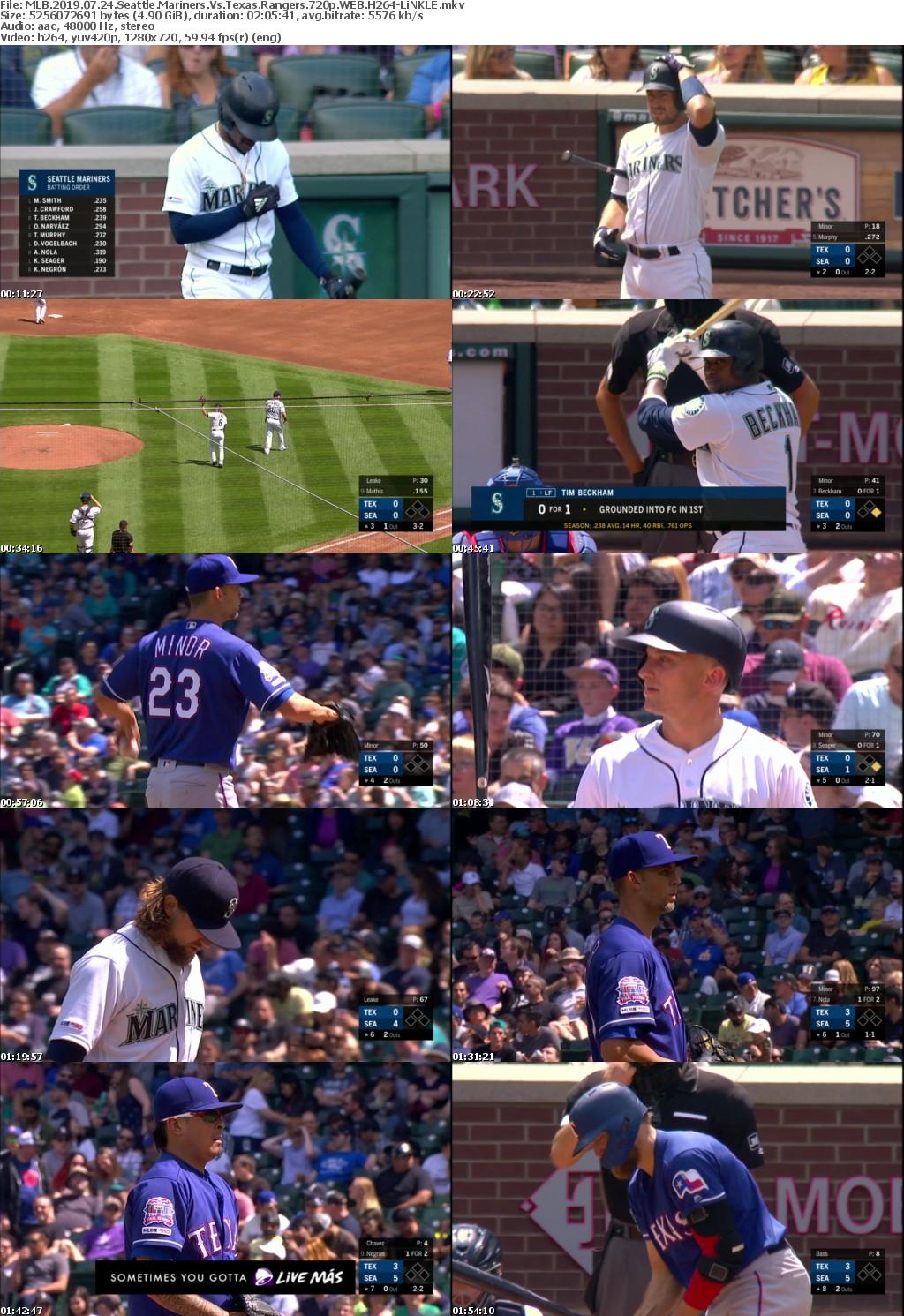 MLB 2019 07 24 Seattle Mariners Vs Texas Rangers 720p WEB H264-LiNKLE
