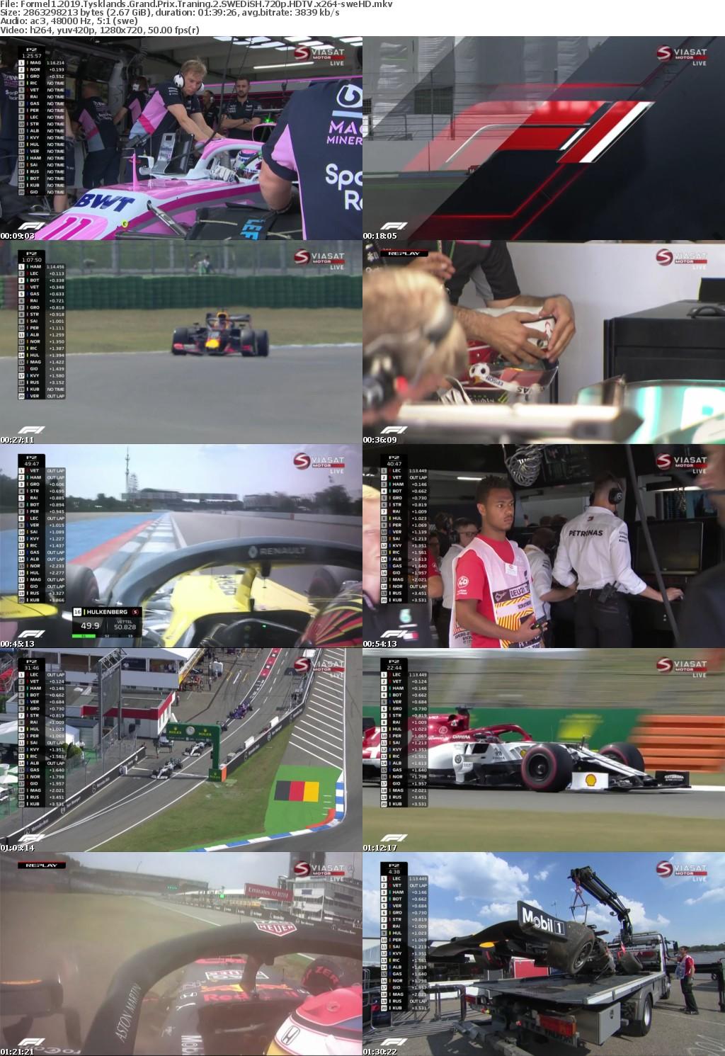 Formel1 2019 Tysklands Grand Prix Traning 2 SWEDiSH 720p HDTV x264-sweHD