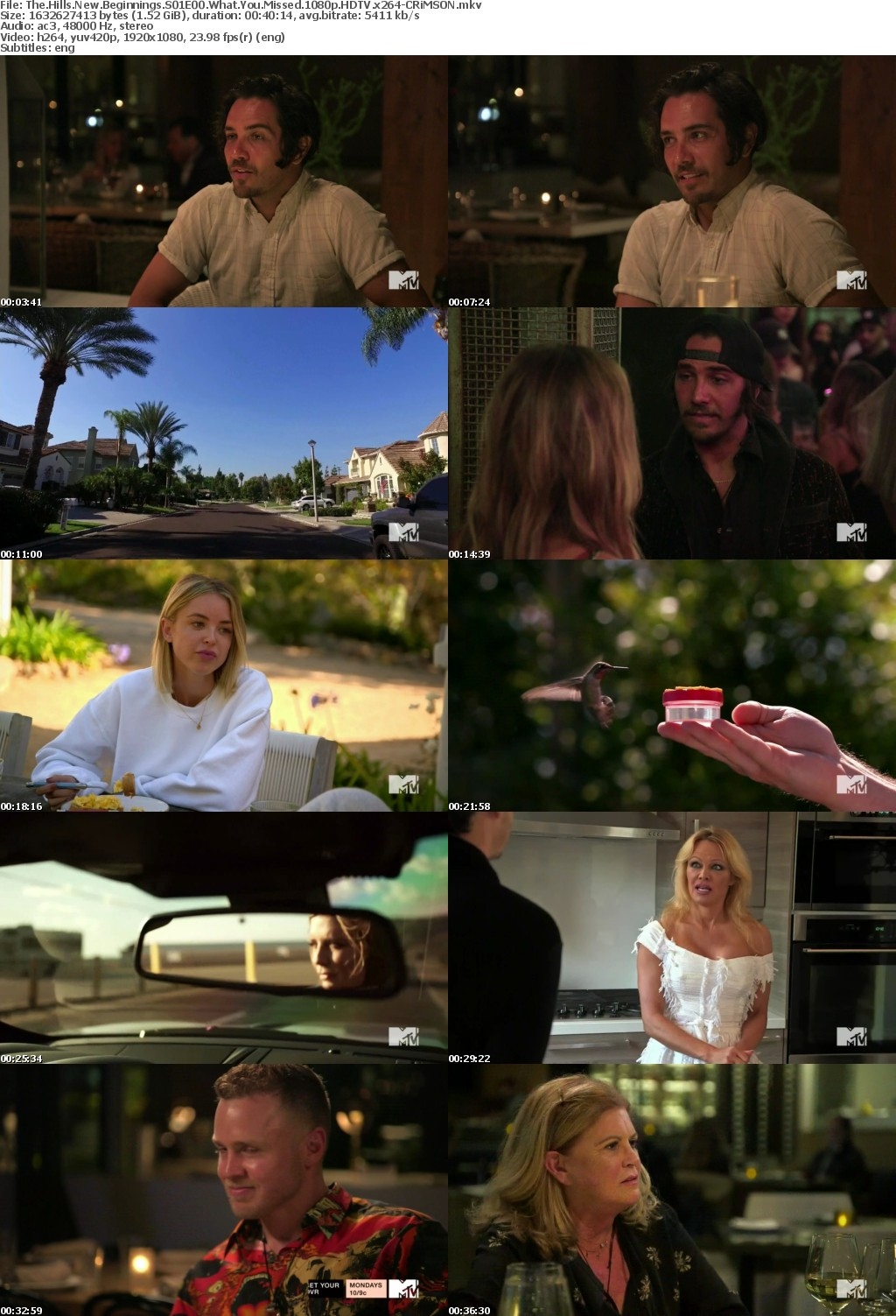 The Hills New Beginnings S01E00 What You Missed 1080p HDTV x264-CRiMSON