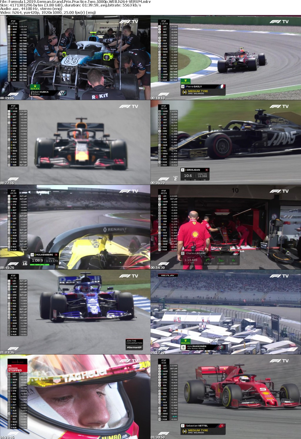 Formula1 2019 German Grand Prix Practice Two 1080p WEB h264-VERUM