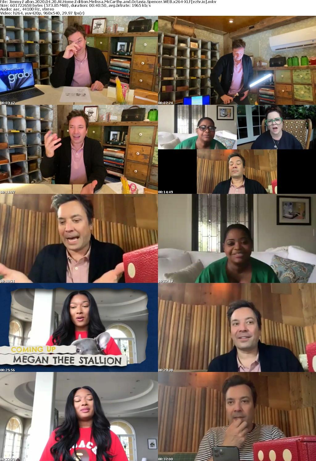 Jimmy Fallon 2020 04 20 At Home Edition Melissa McCarthy and Octavia Spencer WEB x264-XLF