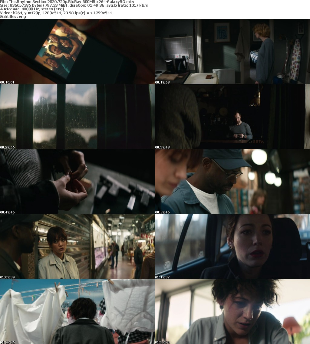 The Rhythm Section 2020 720p BluRay 800MB x264-GalaxyRG