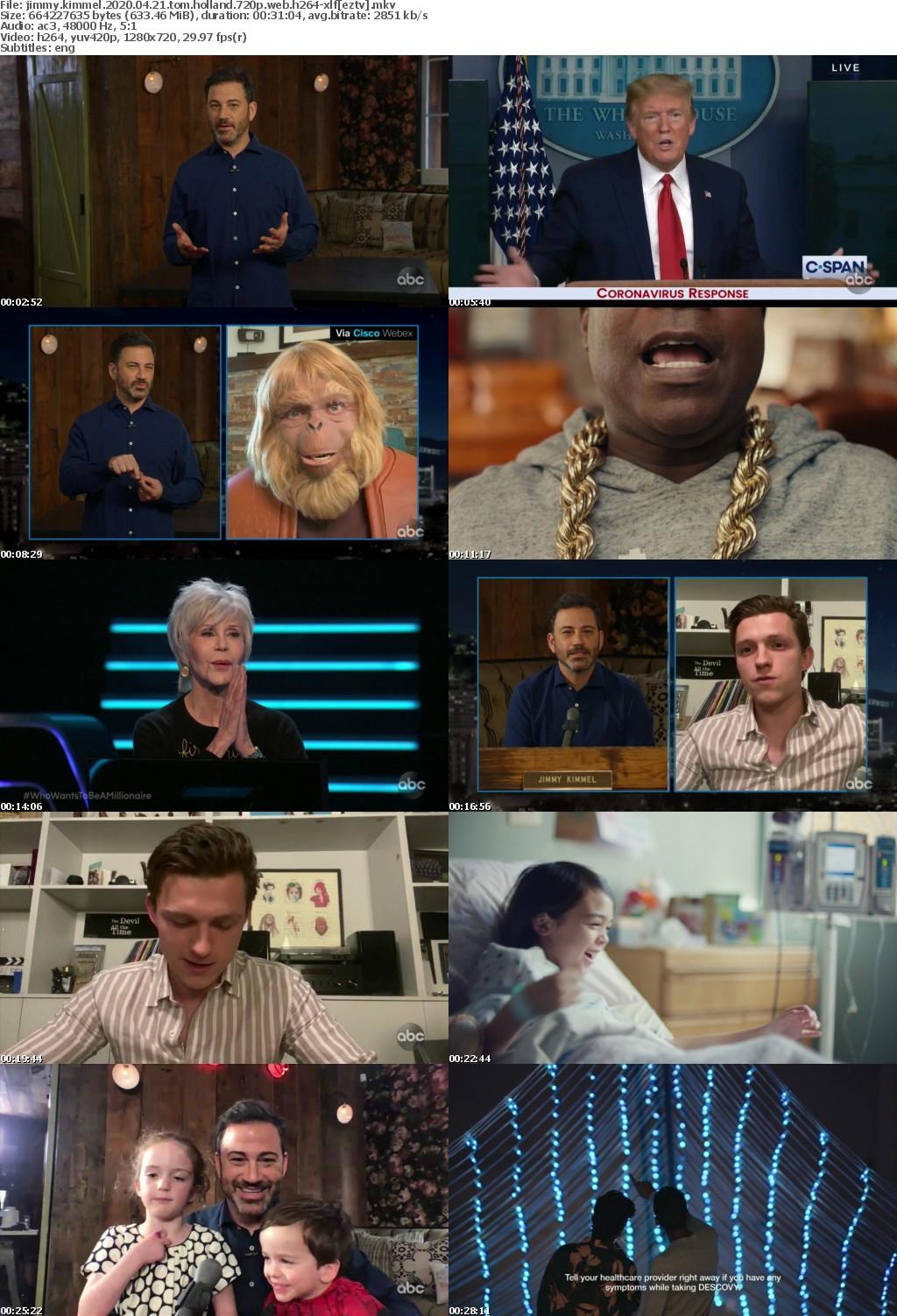 Jimmy Kimmel 2020 04 21 Tom Holland 720p WEB H264-XLF