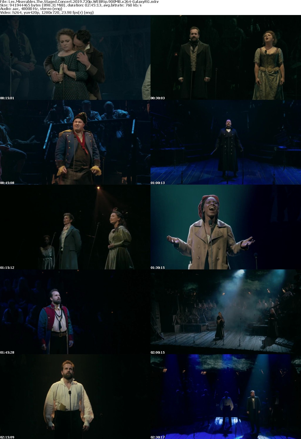 Les Miserables The Staged Concert 2019 720p WEBRip 900MB x264-GalaxyRG