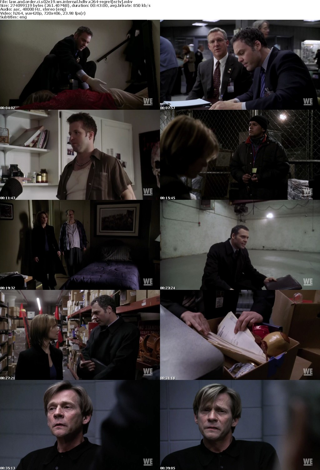 Law and Order CI S02E19 WS iNTERNAL HDTV x264-REGRET