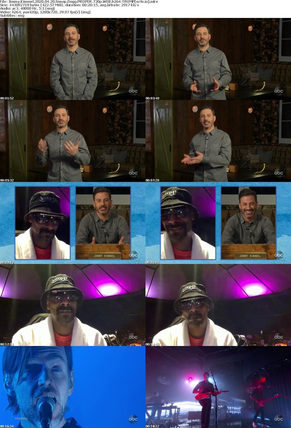 Jimmy Kimmel 2020 04 20 Snoop Dogg PROPER 720p WEB h264-TRUMP