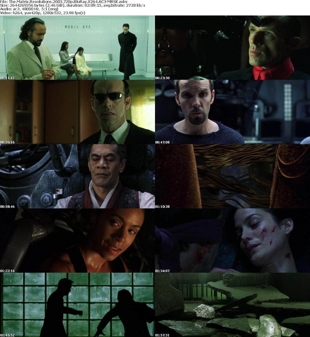 The Matrix Revolutions 2003 720p BluRay X264 AC3-MRSK