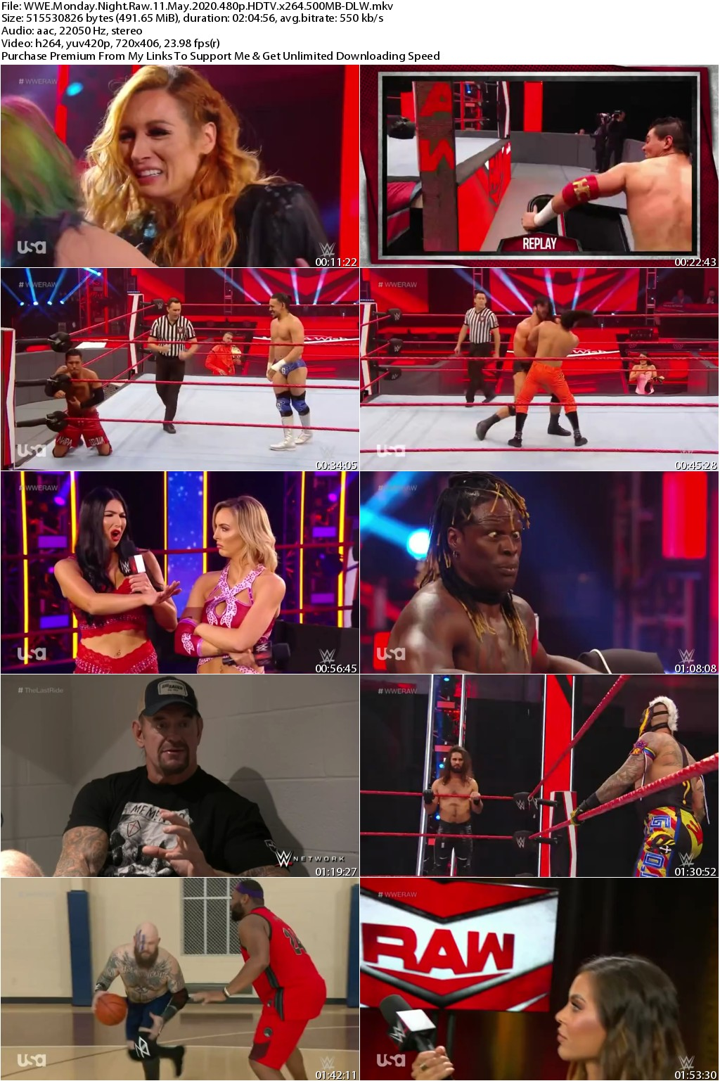 WWE Monday Night Raw 11 May 2020 480p HDTV x264 500MB-DLW
