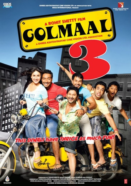 Golmaal 3 2010 Hindi 1080p BluRay x264 DD 5 1 ESubs - LOKiHD - Telly