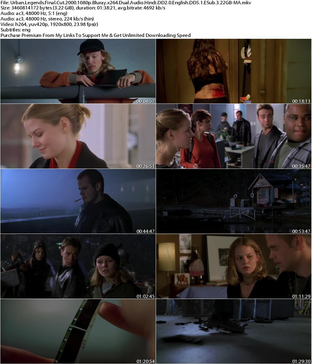 Urban Legends Final Cut (2000) 1080p Bluray x264 Dual Audio Hindi DD2.0 English DD5.1 ESub 3.22GB-MA