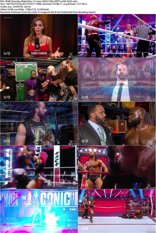 WWE Monday Night Raw 15 June 2020 720p HDTV x264-DLW
