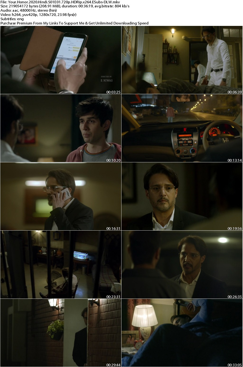 Your Honor 2020 Hindi Season 01 Complete 720p HDRip x264 ESubs 2.5GB-DLW
