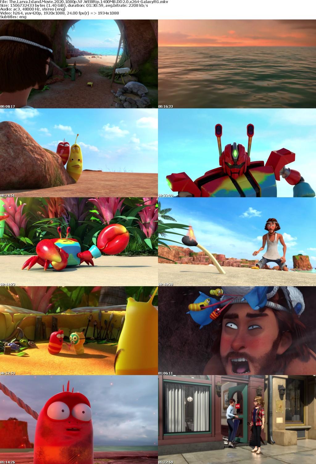 The Larva Island Movie 2020 1080p NF WEBRip 1400MB DD2 0 x264-GalaxyRG