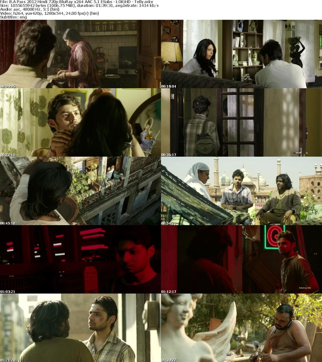 B A Pass 2012 Hindi 720p BluRay x264 AAC 5 1 ESubs - LOKiHD - Telly