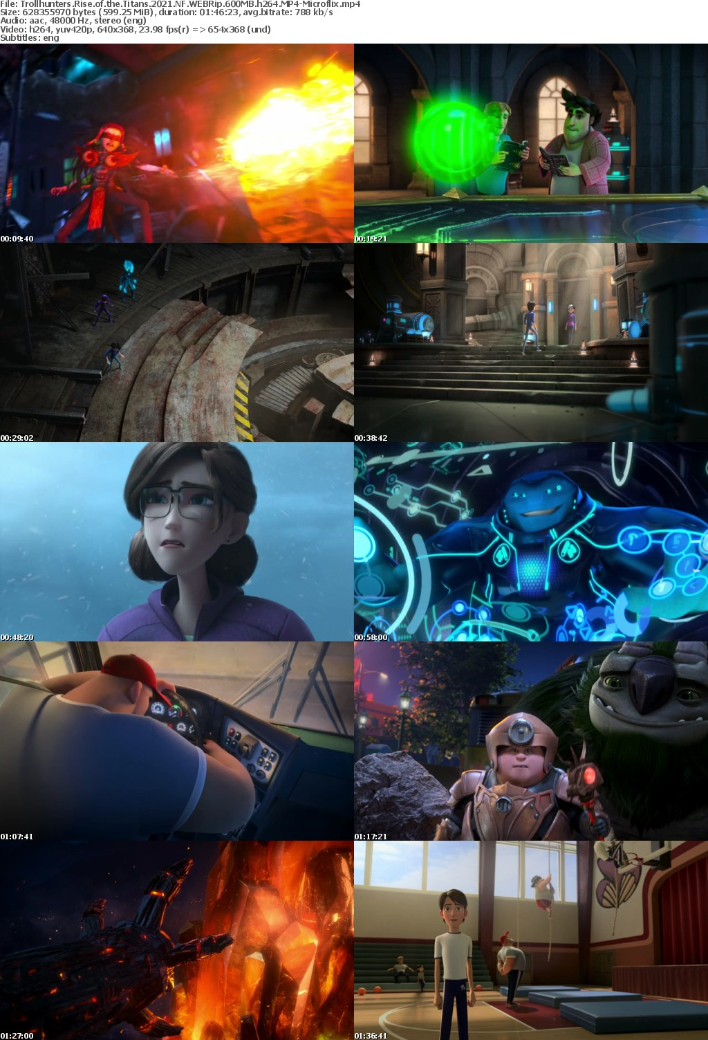 Trollhunters Rise of the Titans 2021 NF WEBRip 600MB h264 MP4-Microflix
